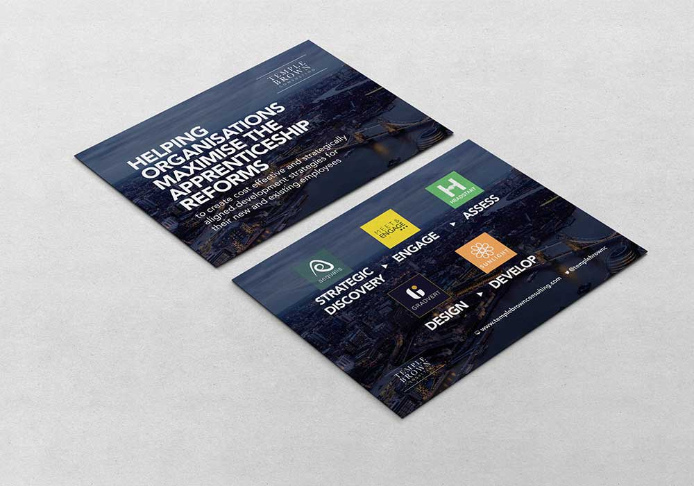 Brand identity Temple Brown - Flyer