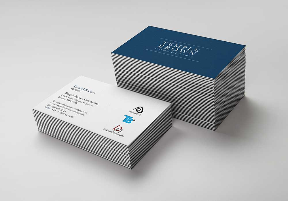 Brand identity Temple Brown - Business Cards