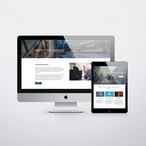 Brand identity Temple Brown - Website Mock up