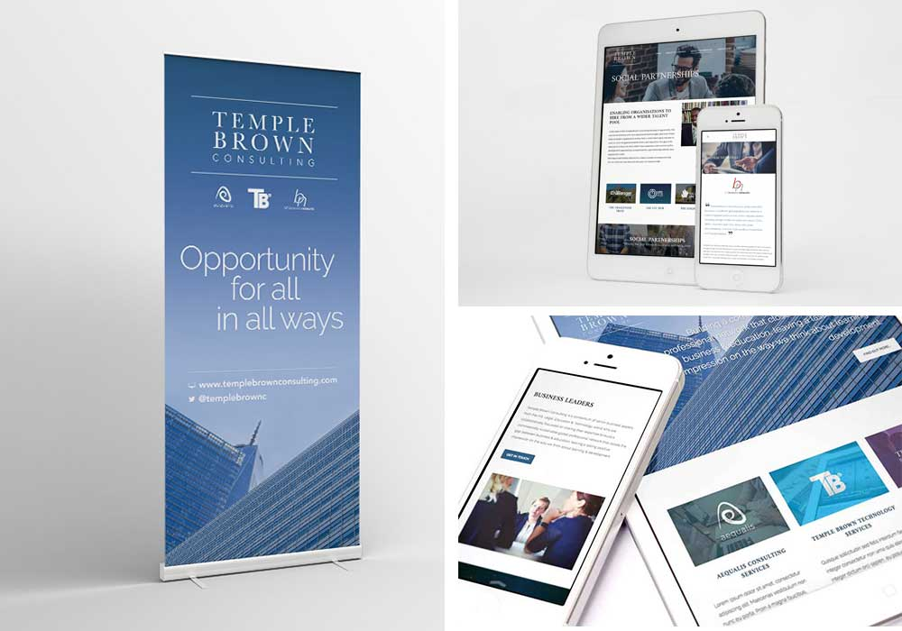 Brand identity Temple Brown - Literature