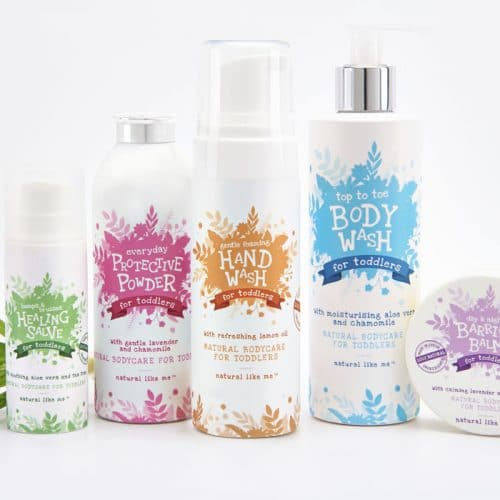 Natural Like Me packaging deisgn