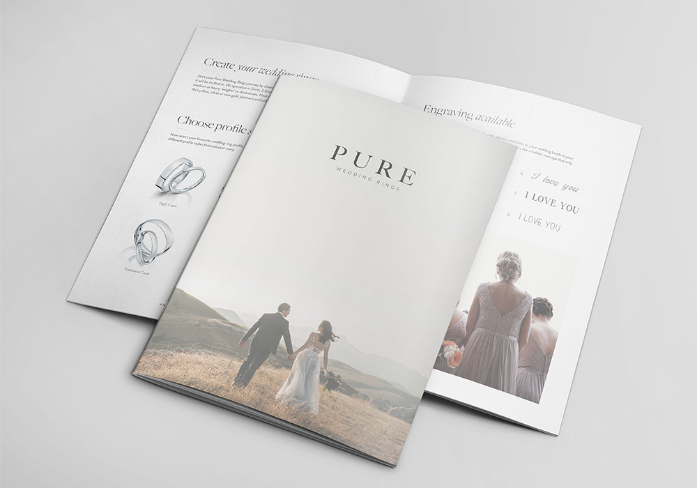 pure wedding rings brochure