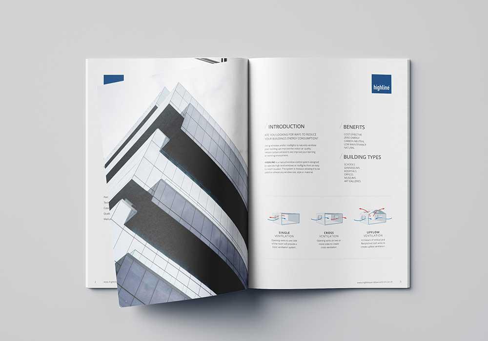Highline product Brochure design
